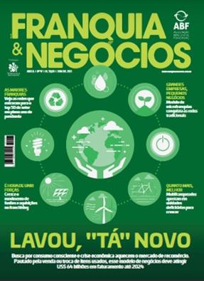 Capa de junho/julho da revista Franquia & Negócios