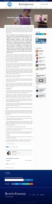 Matéria sobre a inauguração da unidade em Manaus, publicada no portal do Jornal do Commercio de Manaus